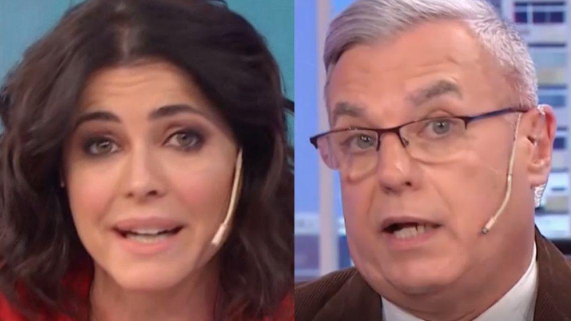 Pamela David retó en vivo a Carlos Monti por un error