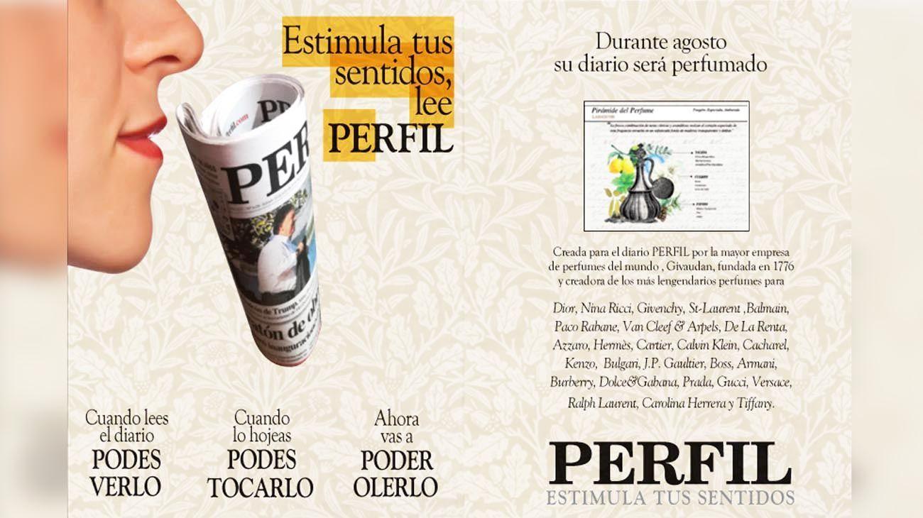 Desde este fin de semana, PERFIL se convirtió en el primer diario perfumado