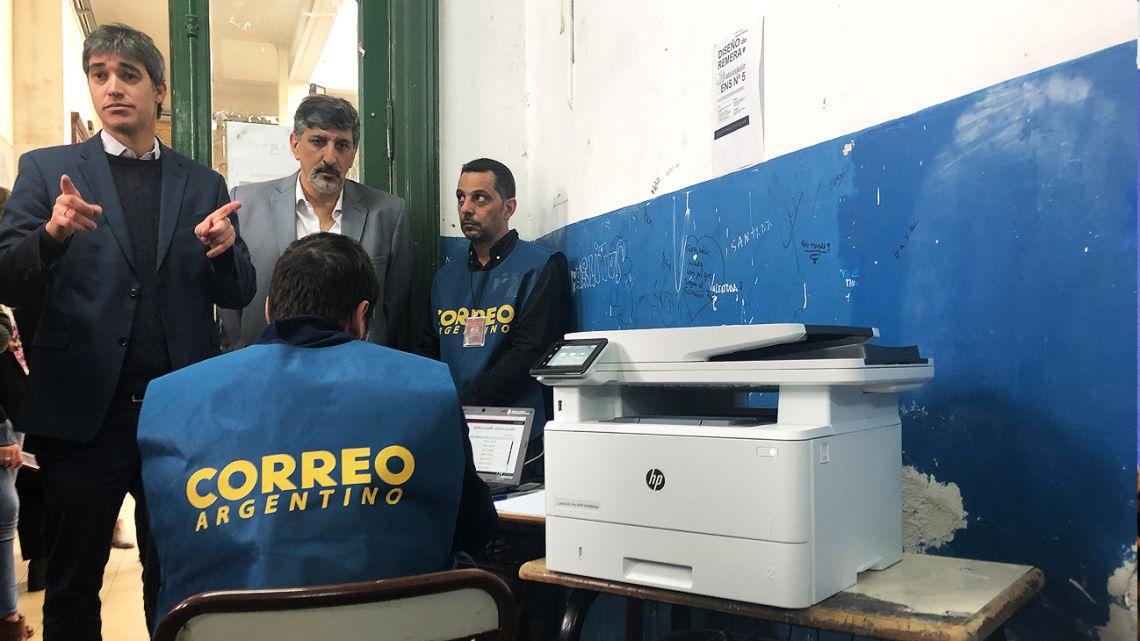An image taken from the Smartmatic trial run in Barracas, a few weekends ago.