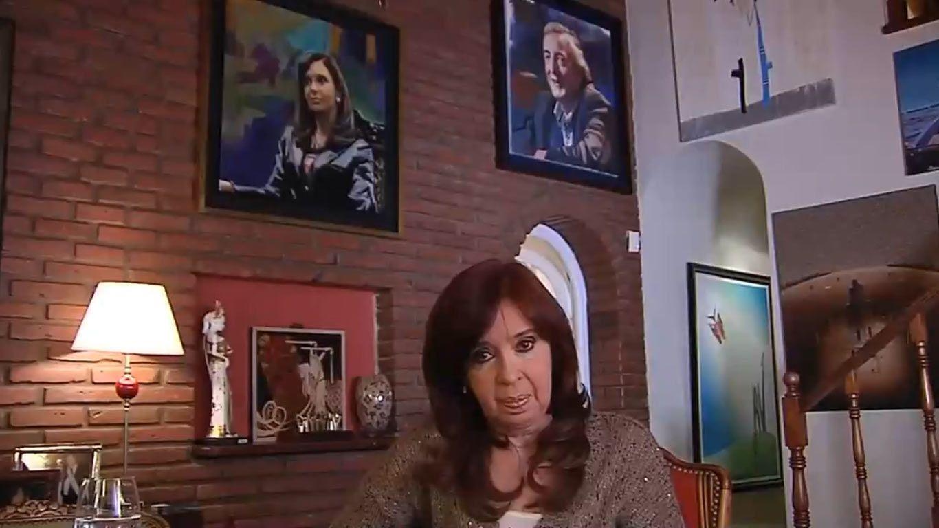 Cristina Fernández de Kirchner pidió responsabilidad al gobierno en un discurso grabado