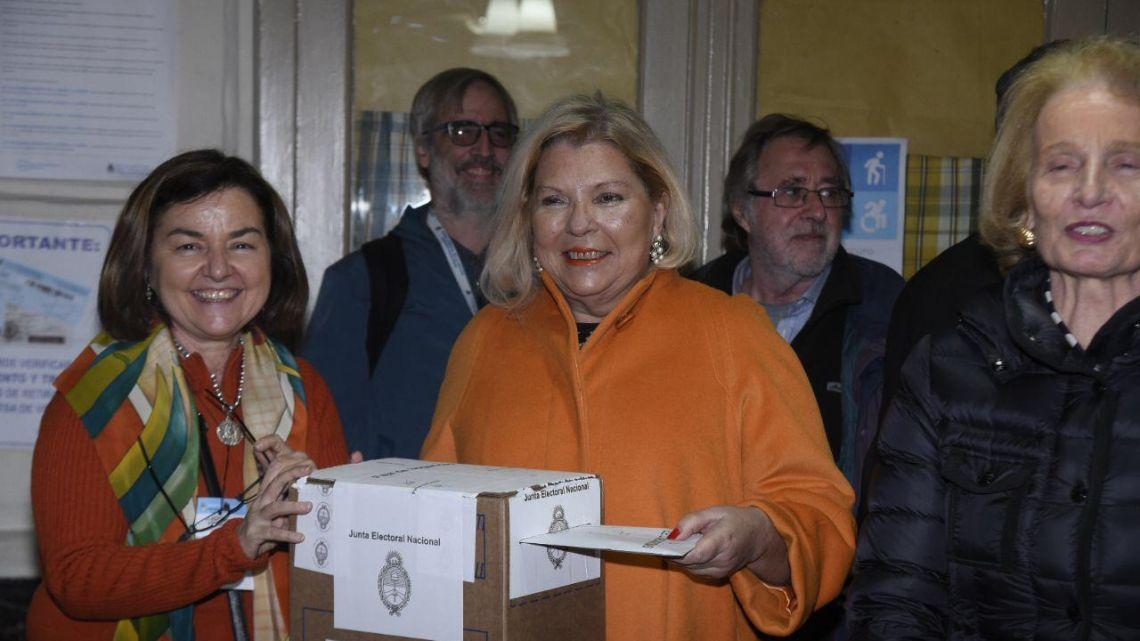 GALERÍA | PASO 2019: así votó Lilita Carrió