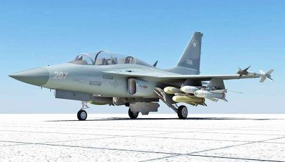 De guerra. Los cazas coreanos FA-50 son un equipamiento necesario, por la pérdida de aviones Mirage en el gobierno anterior.