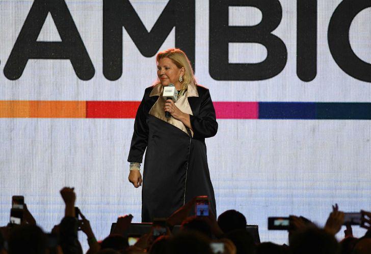 Elisa Carrió, desde el bunker de Juntos por el Cambio.