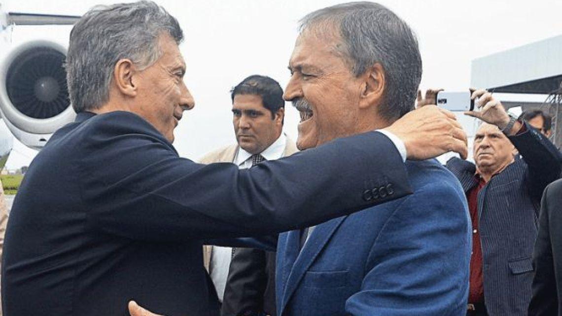 President Mauricio Macri and Córdoba governor Juan Schiaretti.