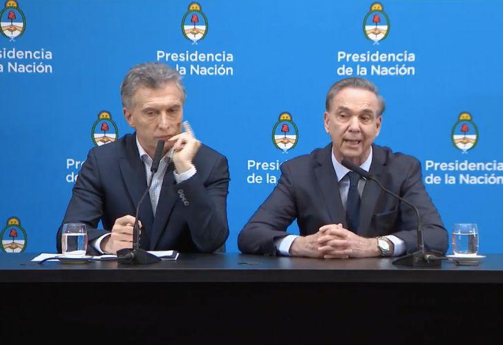 Macri y Pichetto.