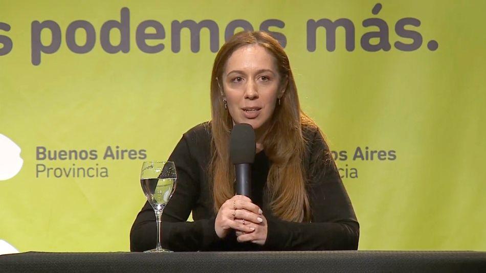 María Eugenia Vidal, durante la conferencia de prensa post-PASO.
