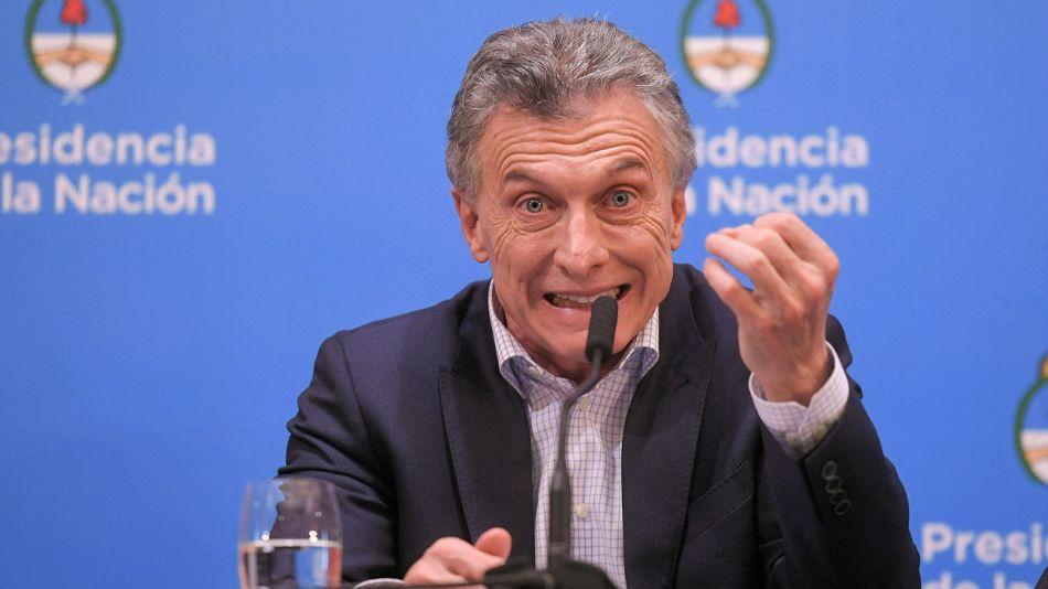 Mauricio Macri en conferencia de prensa.