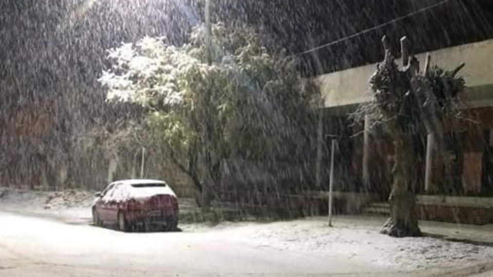 Nevó en Necochea, La Dulce y Lobería.