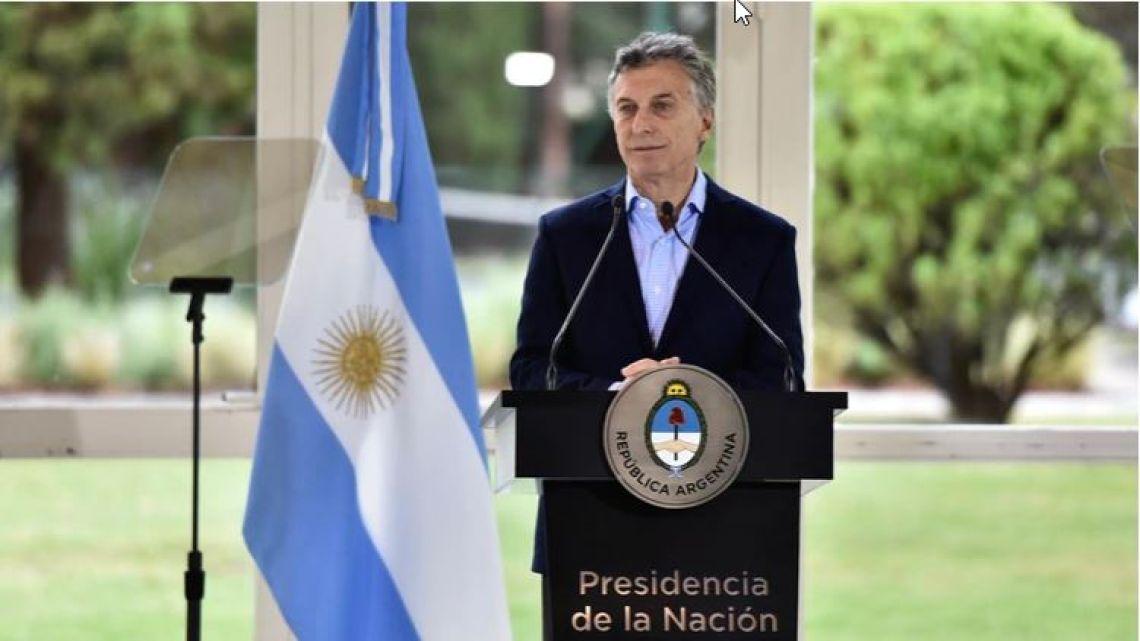 Mauricio Macri anunció nuevas medidas económicas