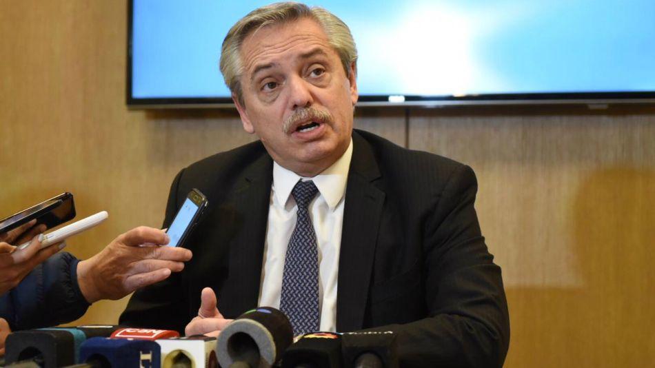 Conferencia de prensa de Alberto F