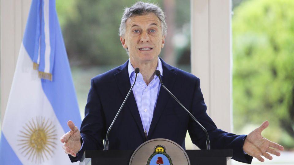El Presidente Mauricio Macri en la residencia presidencial de Olivos.