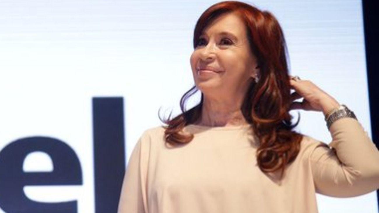 La candidata a vicepresidenta por el Frente de Todos, Cristina Fernández de Kirchner.