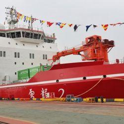 China puso en servicio el nuevo rompehielos Xuelong-2 (Dragón de Nieve 2), uno de los barcos en su tipo más modernos del mundo.