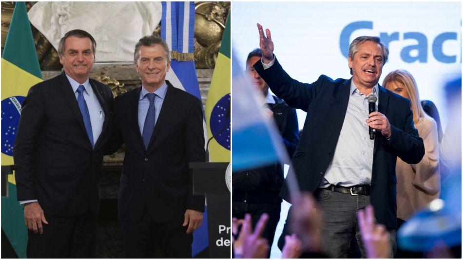 Bolsonaro, Macri y Alberto Fernández