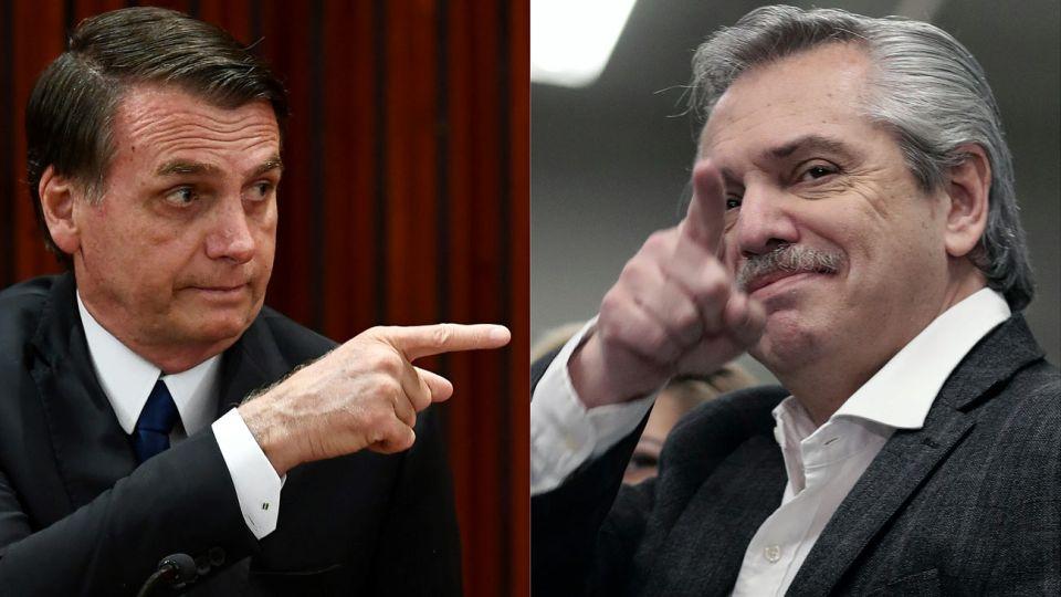El presidente de Brasil, Jair Bolsonaro, cuestiono mas de una vez al candidato del frente de todos.