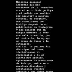Rodrigo Noya denunció bullying de un local de comida