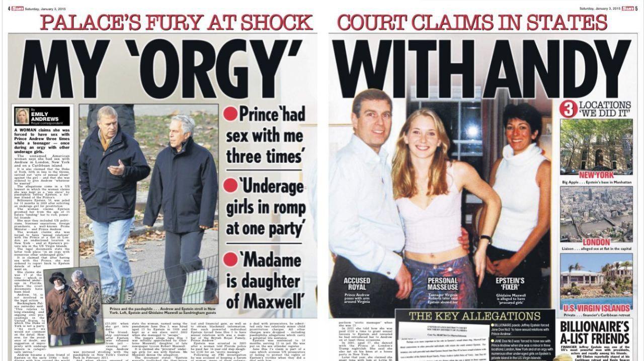 El caso del millonario pedófilo Jeffrey Epstein alcanzó al príncipe Andrés de Inglaterra