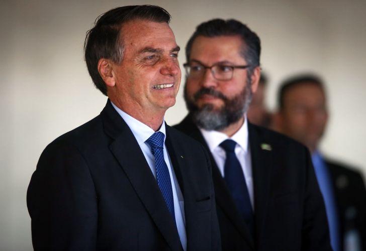 President Jair Bolsonaro Meets With Argentine President Mauricio Macri