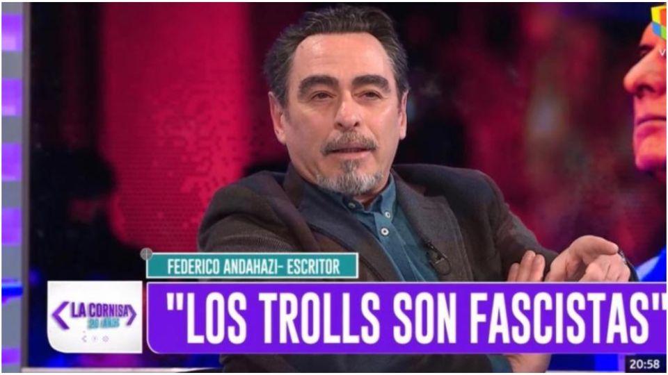Federico Andahazi en el programa de Luis Majul.