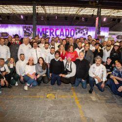 Todos estos chefs y cocineros participaron del corte de cinta de Masticar 2019.