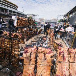 Las carnes a las brasas fueron de los platos más requeridos.