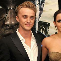 Emma Watson y Tom Felton (foto: AFP)