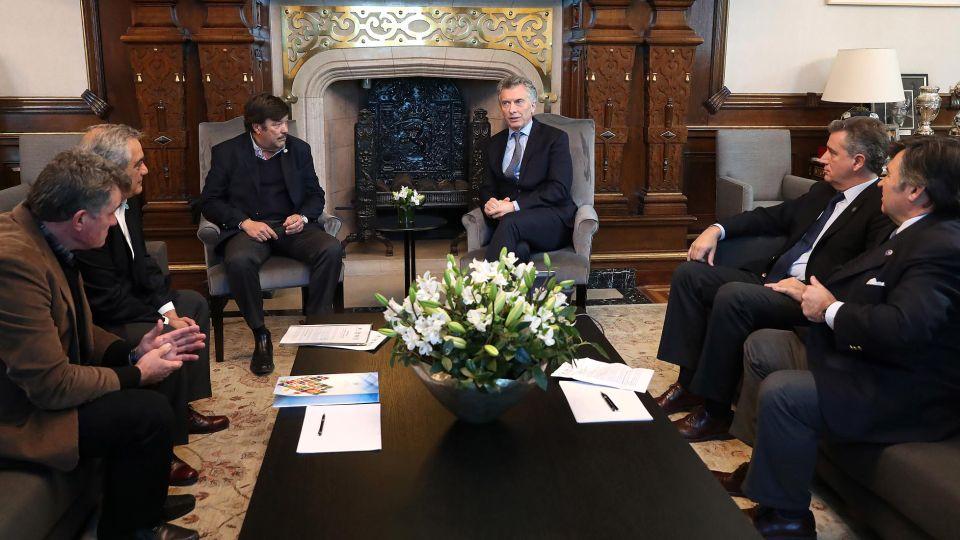 Los integrantes de la mesa de enlace Agropecuario se reúnen con el presidente Mauricio Macri en Casa de Gobierno.