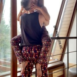 Las fotos de alto voltaje de Miriam Lanzoni y su novio