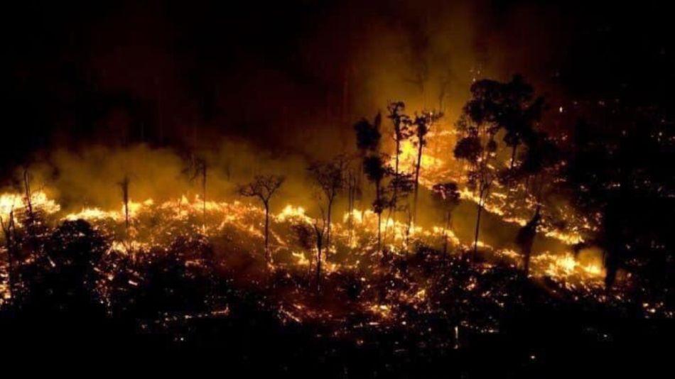 Una de las imágenes que se difundieron de los recientes incendios.