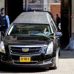 Máxima de Holanda y su familia en el funeral de Cristina