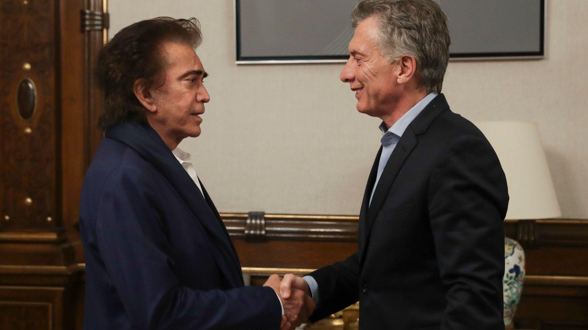 Macri recibió a El Puma Rodríguez