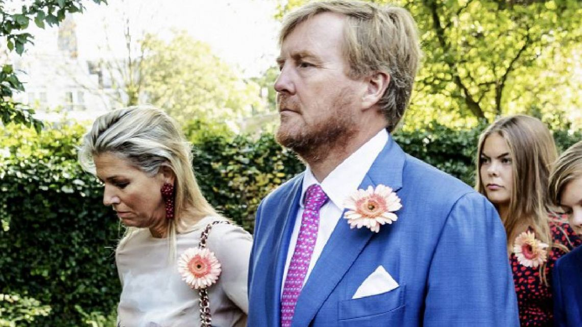 Máxima de Holanda y su familia, devastados en el funeral de la princesa Cristina