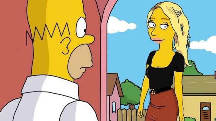 El efecto de los Simpsons llegó a las familias de los futbolistas