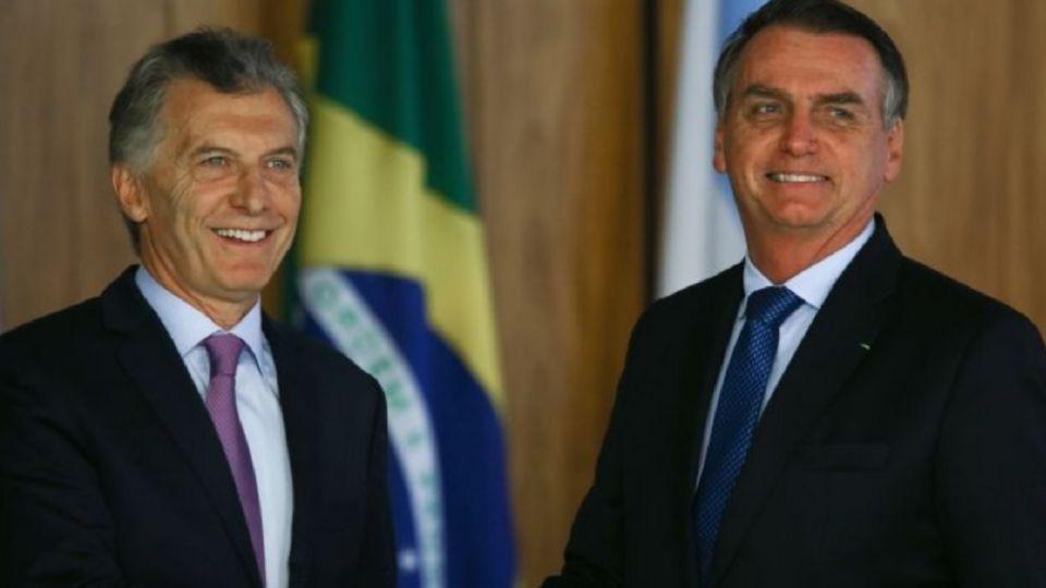 Mauricio Macri junto a Jair Bolsonaro.