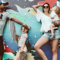 Paula y Pedro con sus hijos