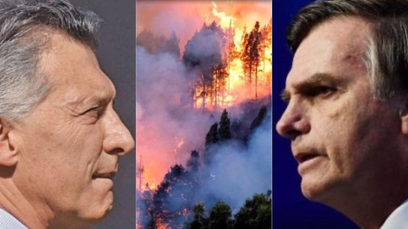 Macri le ofreció ayuda a Bolsonaro para controlar los incendios en Amazonas