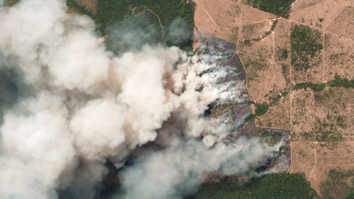 This handout picture collected by a satellite of © 2019 Planet Labs, Inc on August 20, 2019 shows smoke and fires in Brazil's state Para. This week saw an outpouring of social media posts decrying forest fires in the Amazon rainforest, many of them under the hashtag #PrayforAmazonas. But some of the most viral posts are misleading, including either photographs of the Amazon that are years old or images taken in other parts of the world.