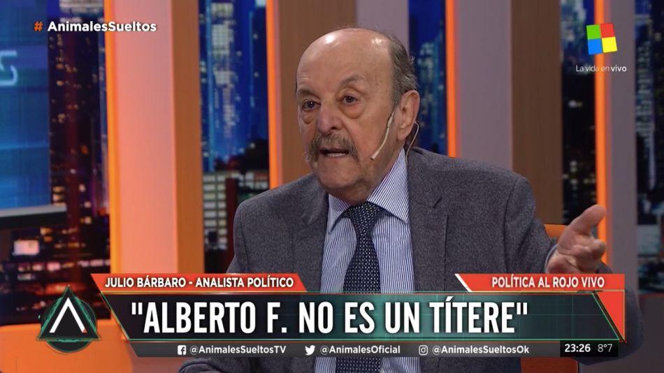 Julio Bárbaro, dirigente peronista.