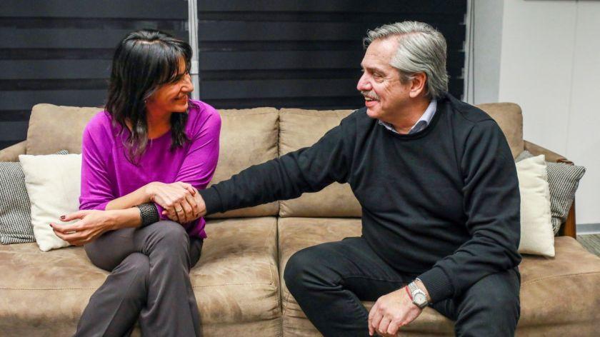 Alberto Fernández se reunió con la hija de De la Sota