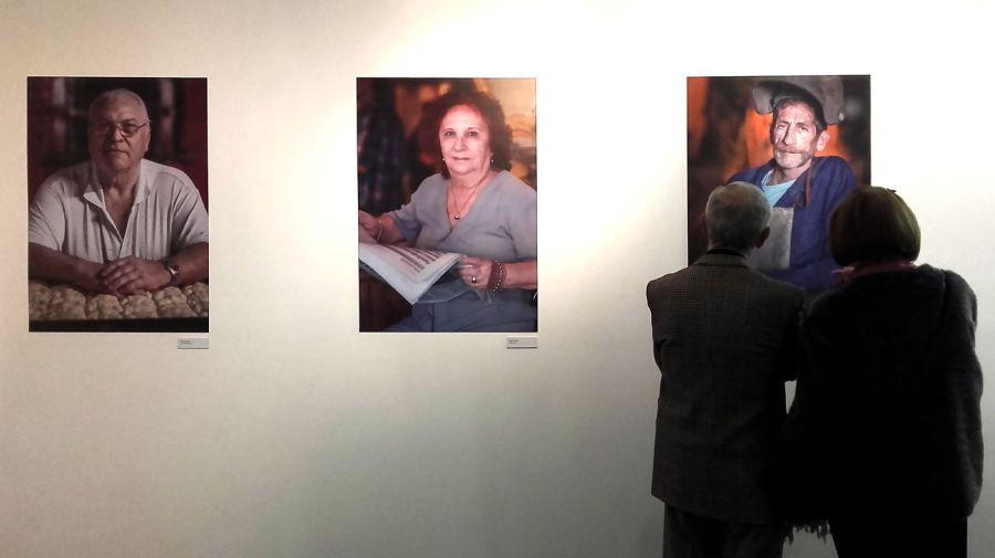 Marcos López en la Usina del Arte. Retratos de la Boca.
