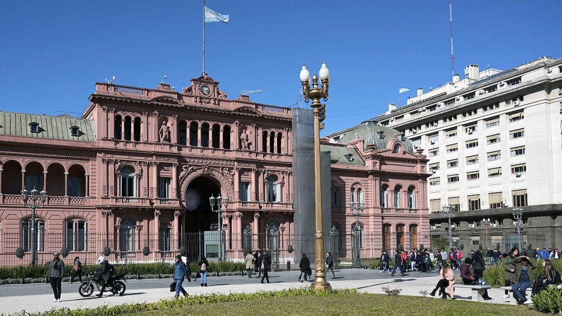 The Casa Rosada, in Buenos Aires.