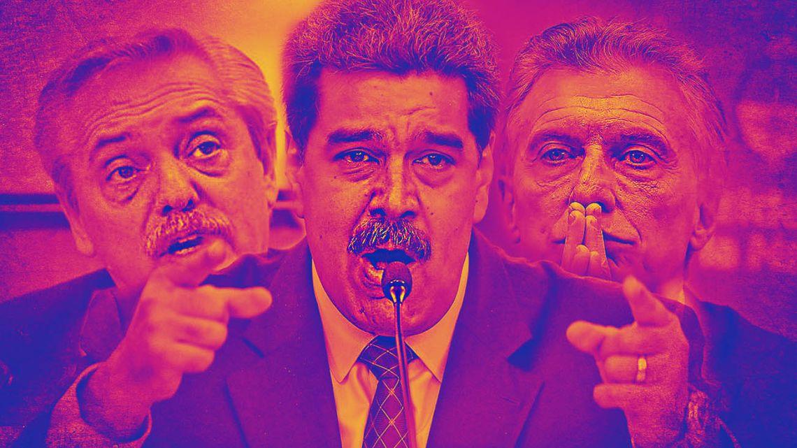 Fernandez, Maduro and Macri.