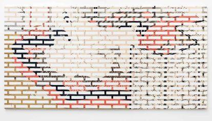 """Obra. """"Cámara traslúcida"""", óleo sobre tela, 2019. El mundo atrapado en la duplicación permanente."""