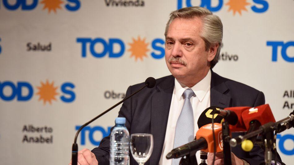 Alberto Fernández, candidato del Frente de Todos.