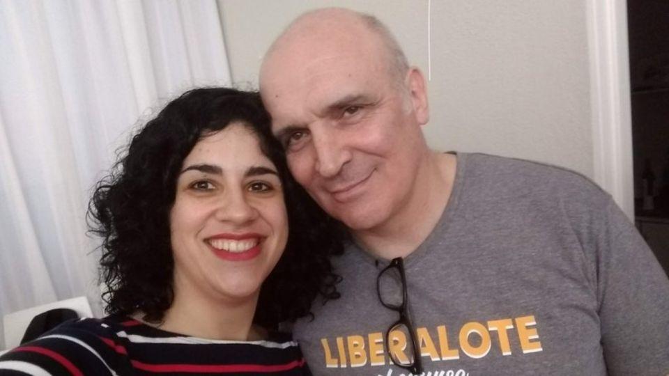 La candidata a senadora Eliana Scialabba junto a José Luis Espert.