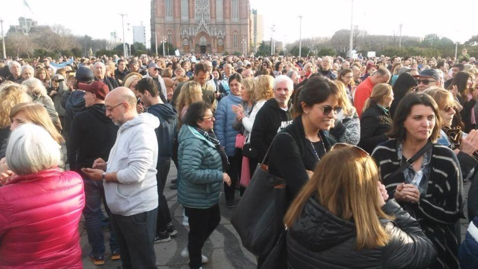 La marcha en apoyo a Macri en La Plata.