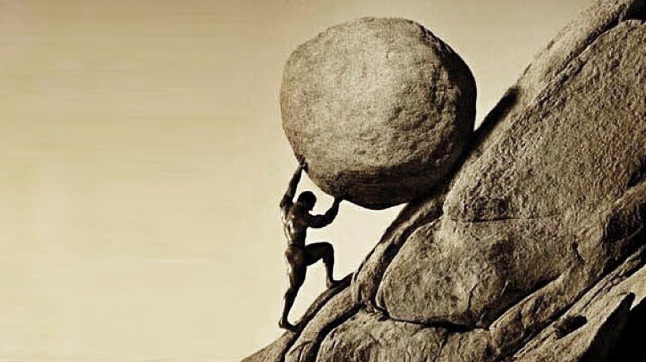 Sísifo: condenado a subir la piedra siempre.