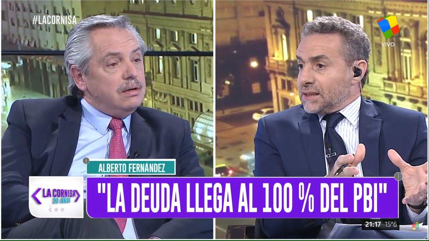 Alberto Fernandez con Majul en La Cornisa