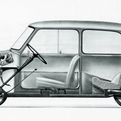 Boceto del Austin Seven Morris / Mini Minor (1959).