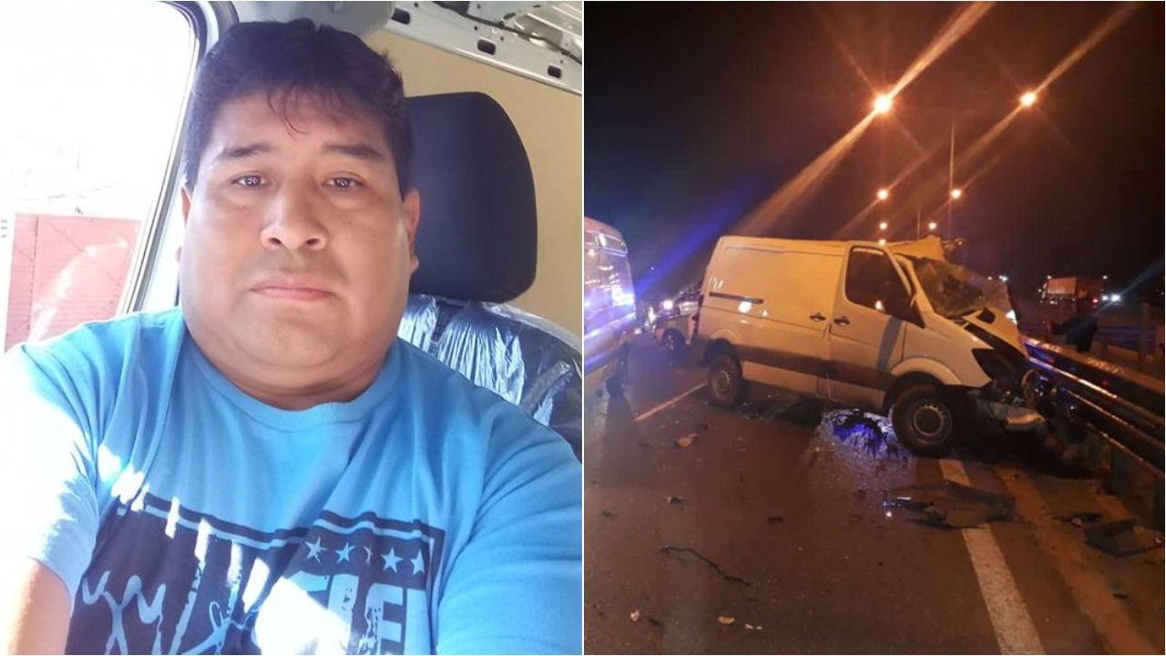 El hombre publicó una foto dentro de su camioneta en Facebook.